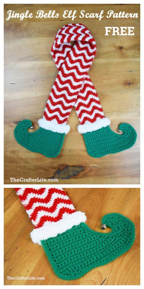 Halloween Witch Legs Scarf Free Crochet Patterns