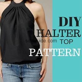 Halter neck top – A DIY pattern