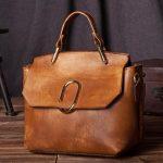 Handmade Leather Purse, Women's Fashion Handbag, Vintage Brown Small Satchel C20...
