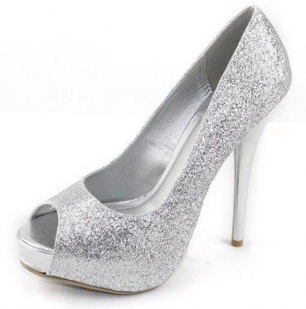 Heels Sparkly Silver Glitter 22 Ideas
