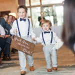 Here comes the bride sign, wedding signs, ringbearer sign, wedding sign, wooden wedding signs, your girl, don't worry ladies, wood -c