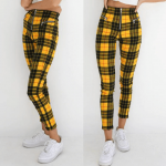 Hit yellow pants plaid harajuku hit yellow pants plaid