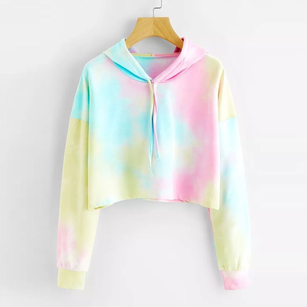 Hoodies Multicolored Vsco Girl Hooded Sweatshirt