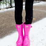 Hot Pink Hunter Boots