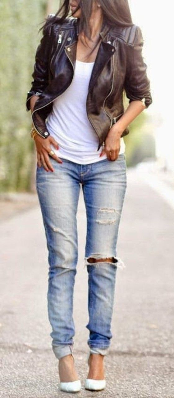 Hot Ways to Style Your White Shirt and Skinny Jeans
