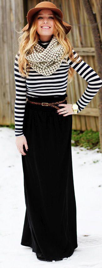 How Sydney Wears It: Maxi Skirts in Winter