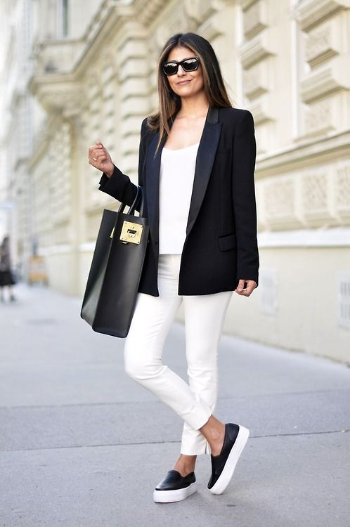 How to Look Sophisticated in Slip-on Sneakers