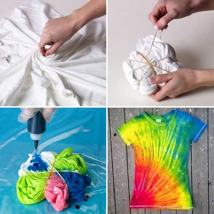 How to Make Easy DIY Tie-Dye Swirl T-Shirt