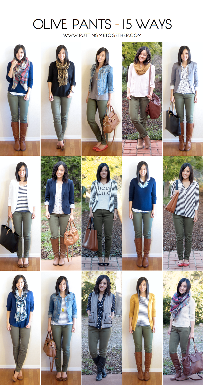 How to Wear Olive Skinny Jeans – 15 Ways