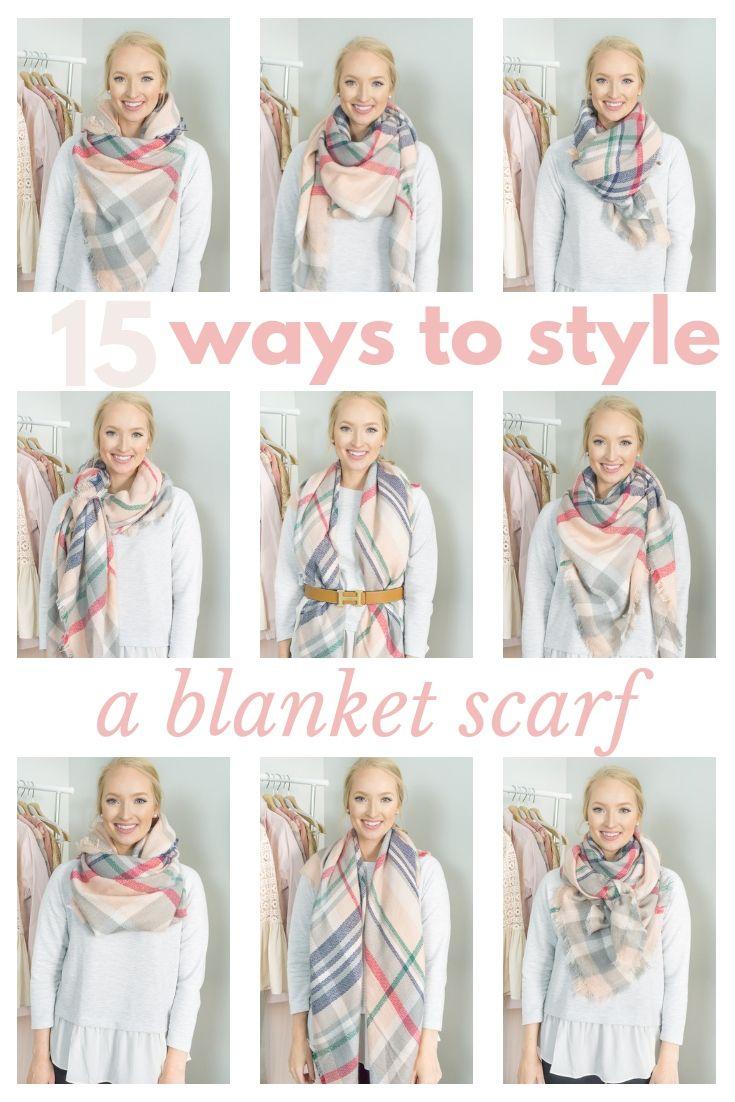 How to Wear a Blanket Scarf: 15 Ways