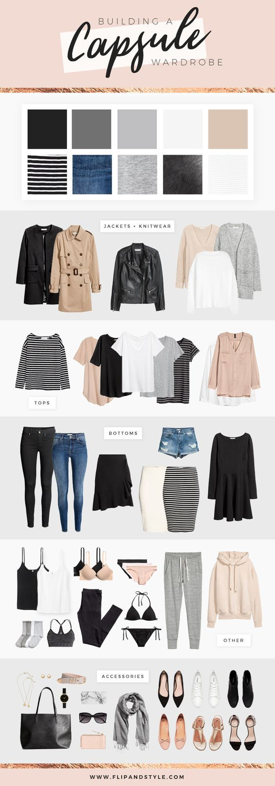 How to build a capsule wardrobe | Style essentials, minimalist outfits and close…