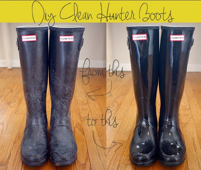 How to clean Hunter Boots the DIY Way