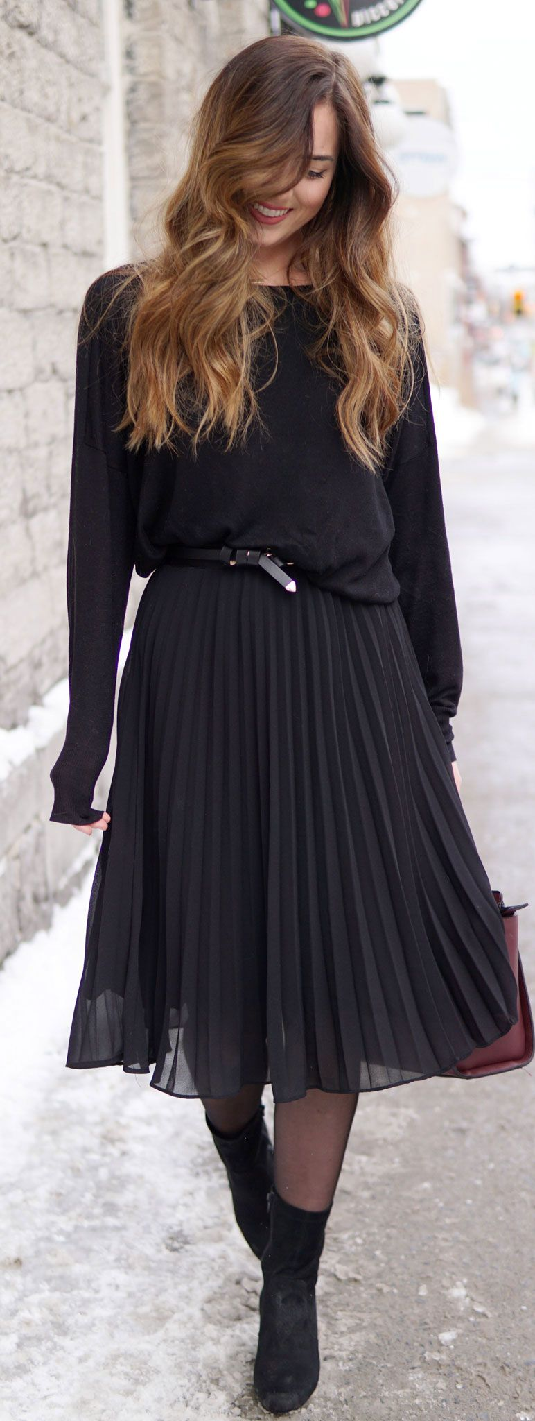 How to wear a pleated skirt in winter – pt 2 (& giveaway winners