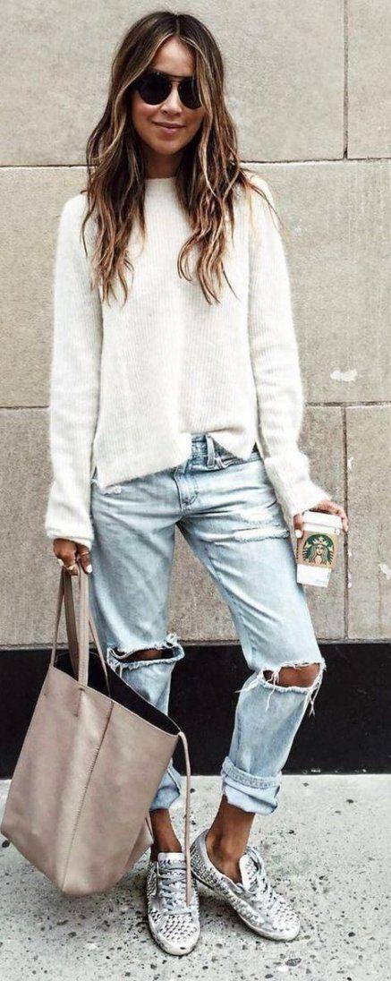 How to wear boyfriend jeans in winter sincerely jules 61+ New Ideas