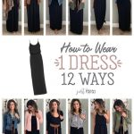 How to wear one black maxi dress twelve ways #justpostedblog #ShopStyle #shopthe…