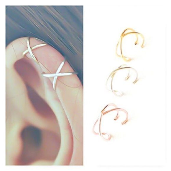 I just discovered this while shopping on Poshmark: 🎉HP🎉 Criss Cross Ear Cu…