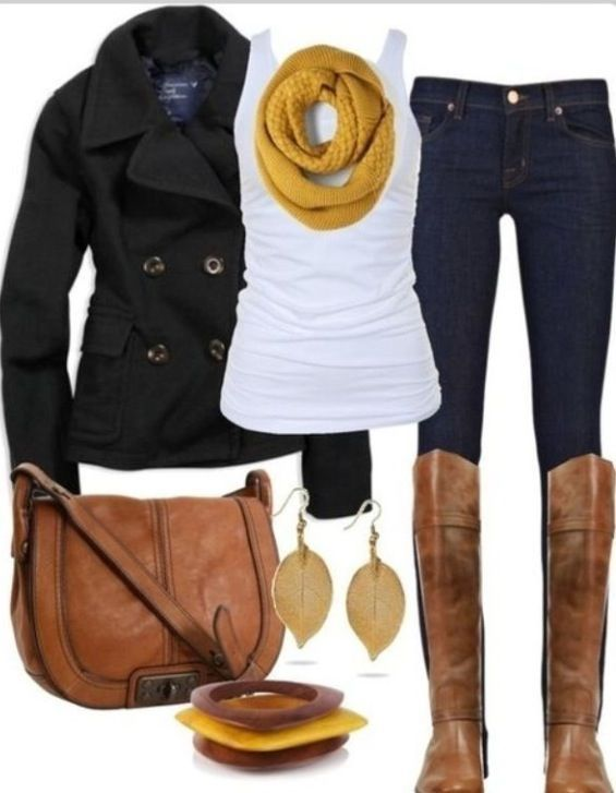 I like the wrinkled t-shirt, it hides tummy rolls. Boots are great too but may b…