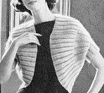 INSTANT PDF PATTERN 1960s Vintage Knitting Pattern Elegant Shrug Sweater Jacket Lovely Design Day or Evening Unique Knit Pattern
