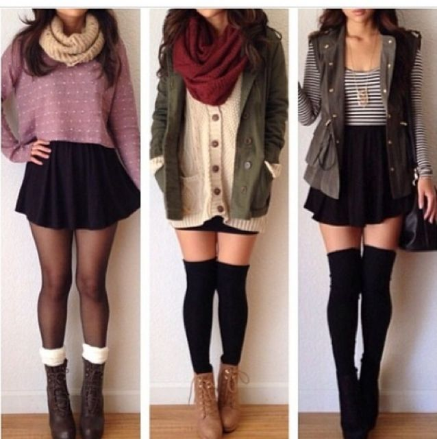 I'm not all into sweaters and stuff but I would wear these. Just swap the skirts…