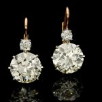 Incredible new arrival in she shape of a pair of Hancocks old cut diamond earrin...