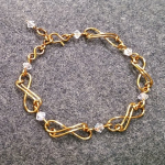 Infinity bracelet - How to make wire jewelery 202