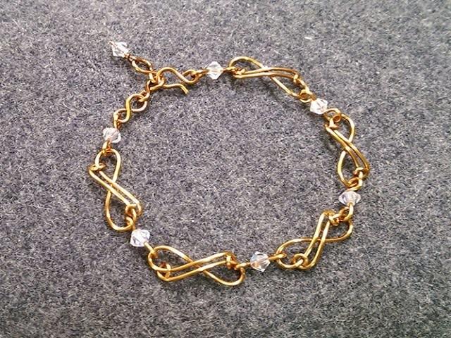 Infinity bracelet – How to make wire jewelery 202