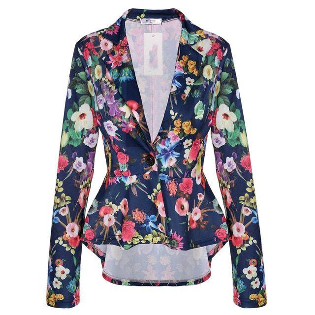 Irregular Dovetail Blazer Jacket Short Back Temperament OneButton Slim Small Suit Color black Size M