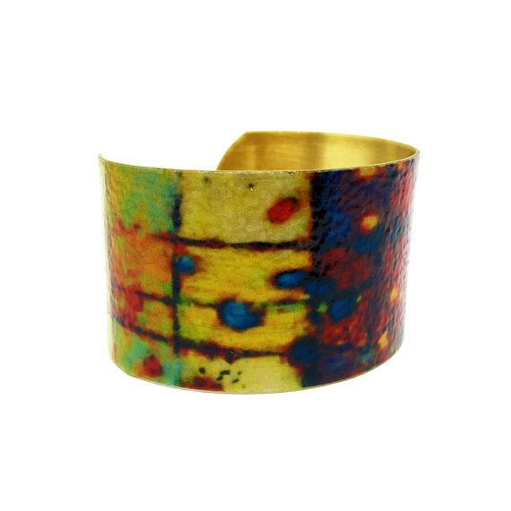 Items similar to Handmade Jewelry – Gift for Wife – Art Bracelet – Birthday Jewelry – Cuff Bracelet – Simple Bracelet – Gold Bangle – Boho Bracelet on Etsy
