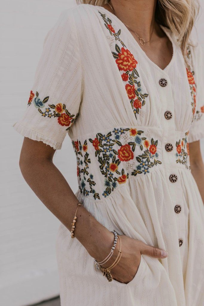 Ithaca Embroidered Dress