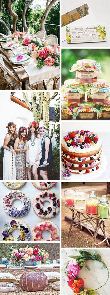 It's a Garden Party! Boho Bridal Shower Inspiration