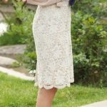 Ivory lace skirt as Kate Middelton would wear it. Chiffon blouse to soften the e...