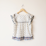 J. Crew Point Sur Flutter-Sleeve Peasant Top Size large. J. Crew Point sur flutt...