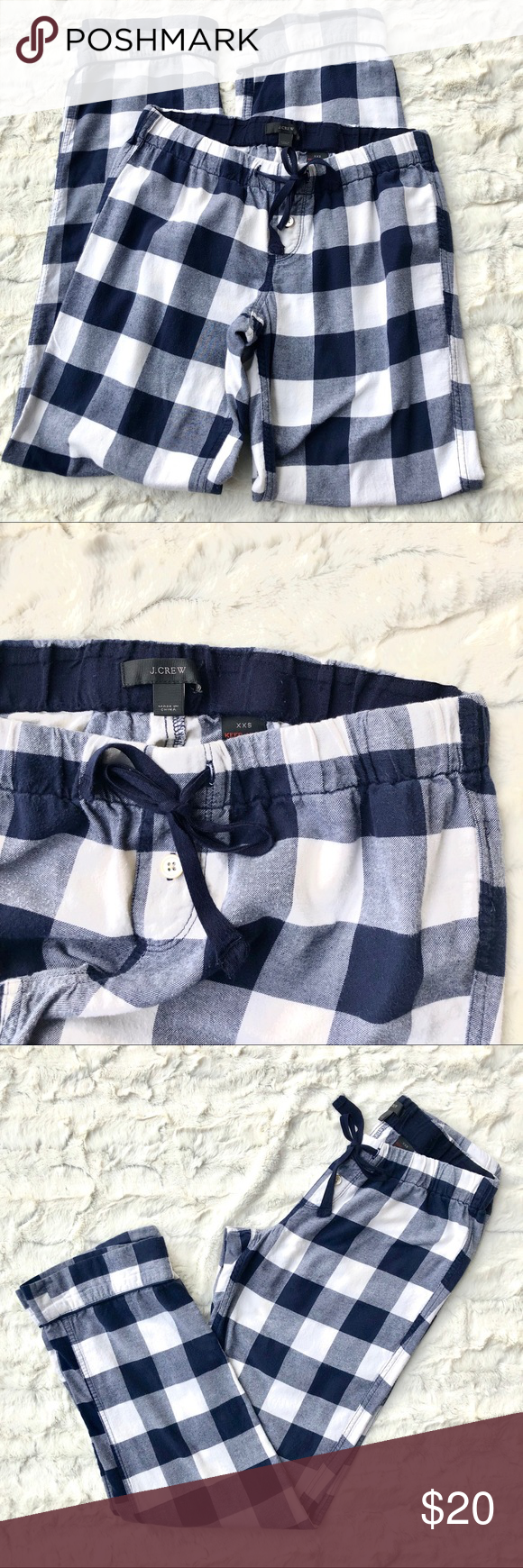 J.Crew Buffalo Check Plaid Pajama Flannel Pants In preowned, gently used conditi…