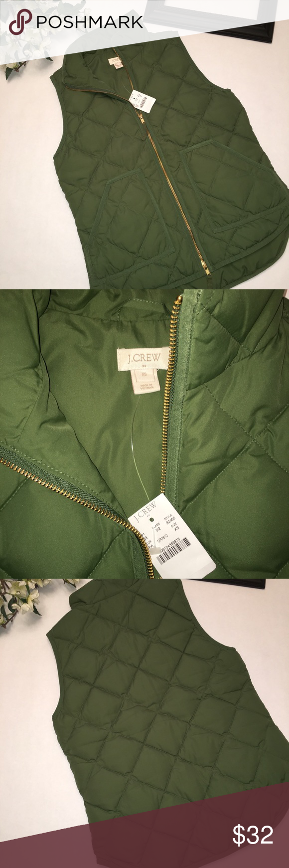 J.Crew vest size XSmall NWT Brand: J. Crew Size: XSmall  Material: polyester/Dow…