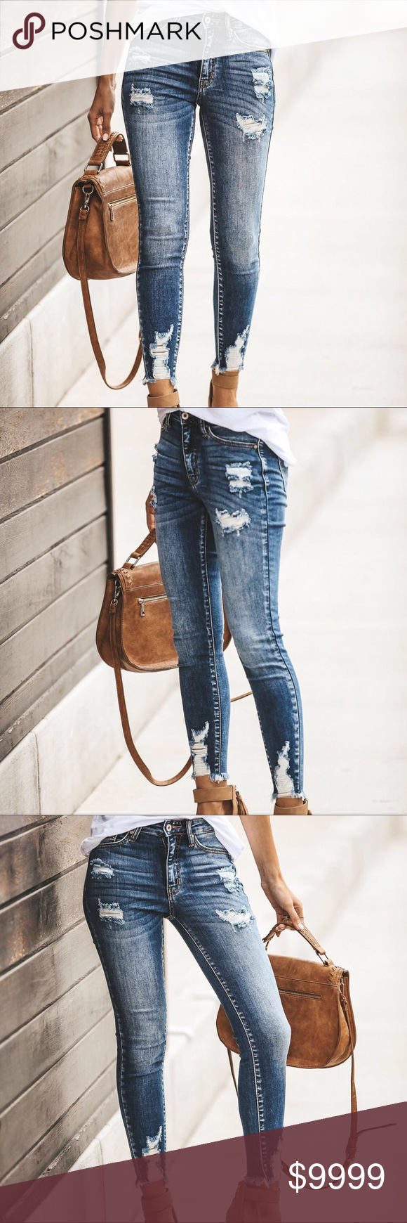 JUST IN‼️ Riley Distressed Skinnies Another amazing pair of destructive skin…