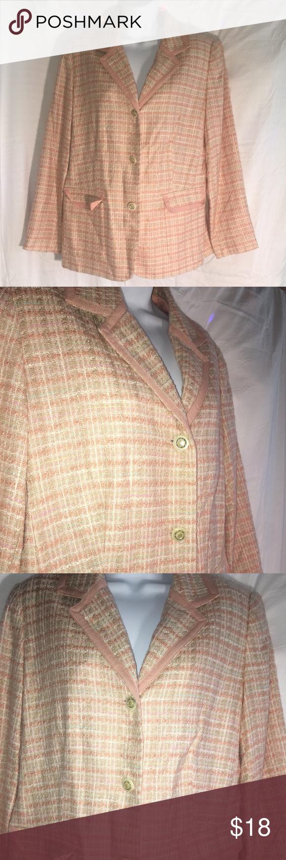 Jaclyn Smith Woman's Blazer Jaclyn Smith Woman's Blazer  Soft pastel colored…