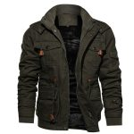 Jamickiki New Autumn and Winter Fashion Mens Miliatry Patch Warm Jacket Tactical Us Army Woolen Padded Coat. 3 Colors