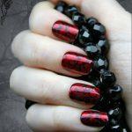 Japanese Nail Art- Red Gothic Baroque Press On Fake Nails, Goth, Gothic, Vampire, Halloween, False Nails Set, Fake Nails, Artificial Nails