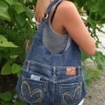 Jeans bag,Recycled jeans,Shoulder handbag,casual denim bag for summer, dark blue...