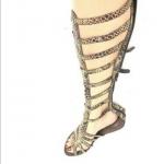 Jeffrey Campbell Tip 2 Knee High Gladiator Sandals EUC. Toes show light wear. Sn...