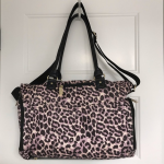 Jessica Simpson Diaper Bag Purple and black leopard print Jessica Simpson diaper...