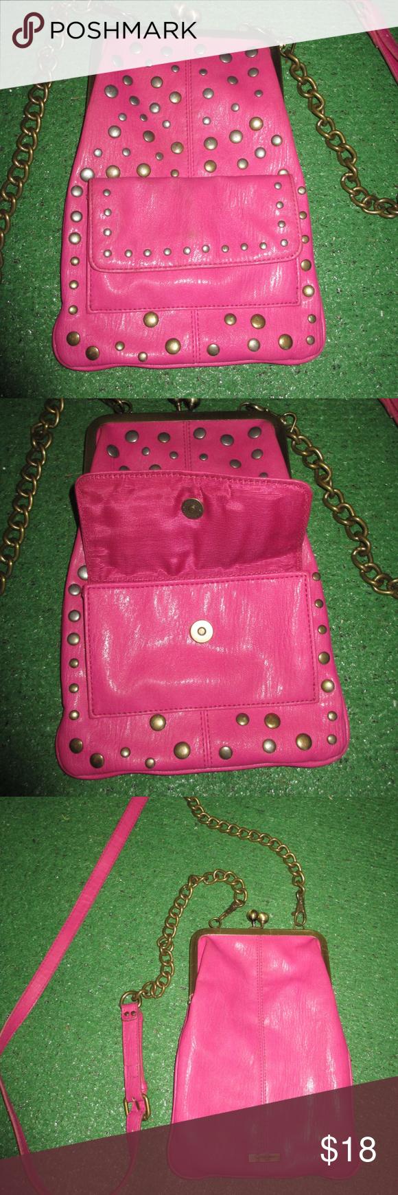 Jessica Simpson HAND BAGS shoulder bag SNAPS PINK Jessica Simpson hand bag-shoul…