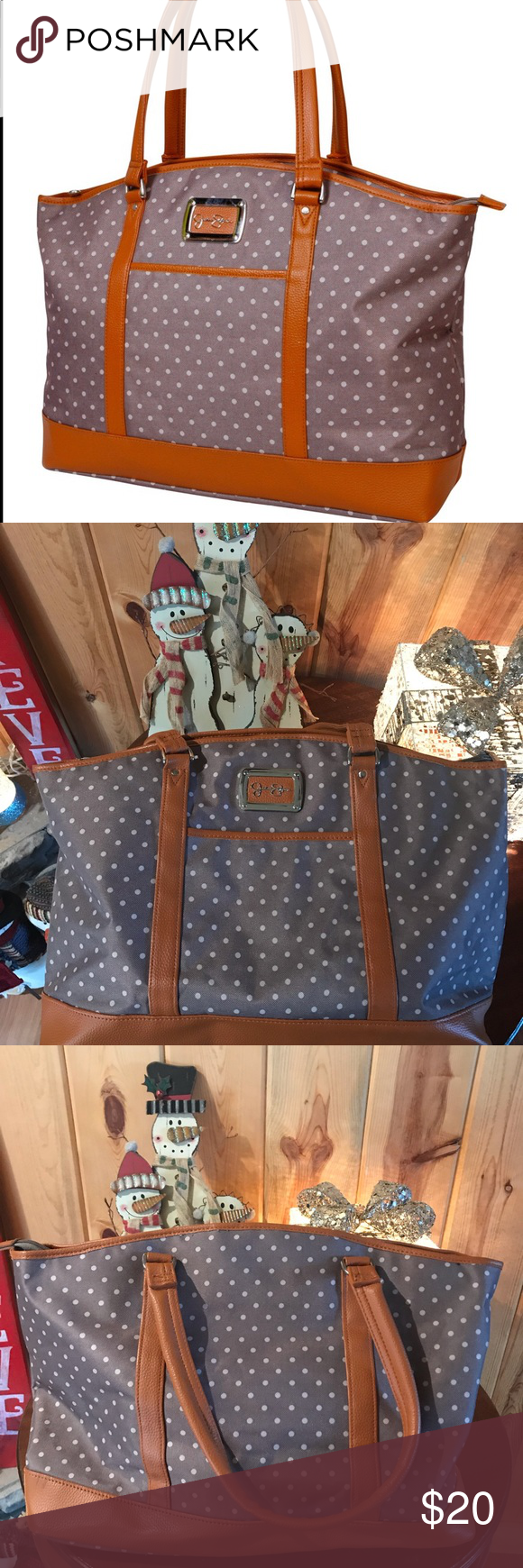 Jessica Simpson Socialite Travel Tote Details Redefine your on-the-go aesthetic …