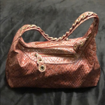 Jessica Simpson handbag Red shiny croc hand bag with silver hardware. Zip top cl...