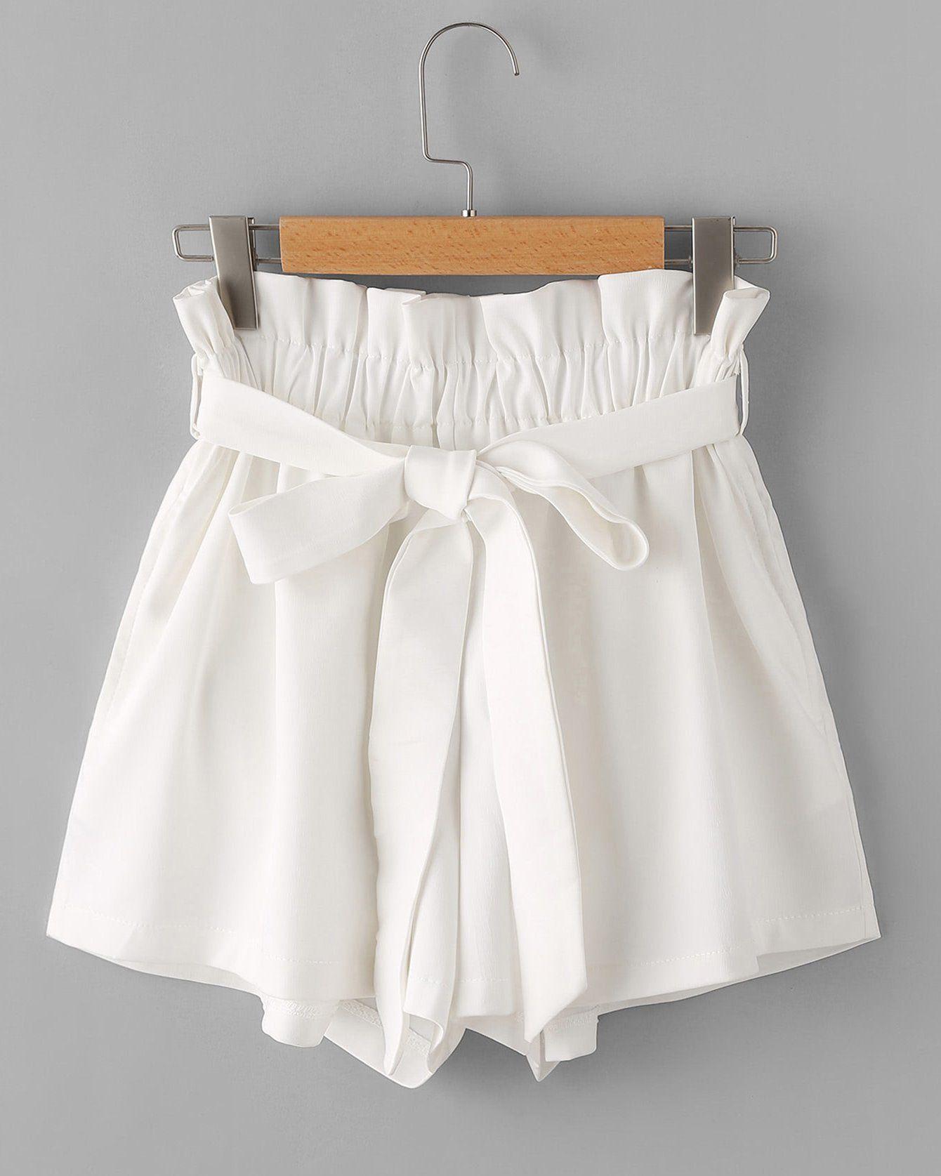 Julie High Waisted Shorts – White