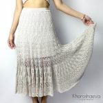 KNITTING PATTERN - How to Knit Lace Skirt, Intermediate Skill Level Pdf Pattern, Women's Knitted Openwork Skirt, Knitted Summer Long Skirt