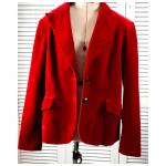 Kasper Red Velvet 2 Button Blazer Jacket Petite 10 Kasper Red Velvet 2 Button Bl...