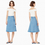 Kate Spade Vintage Denim Wrap Midi Skirt Size 2 Kate Spade vintage denim wrap sk...