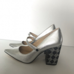 Katy Perry Silver The June Diamond Heel Mary Jane Katy Perry Metallic Silver The...