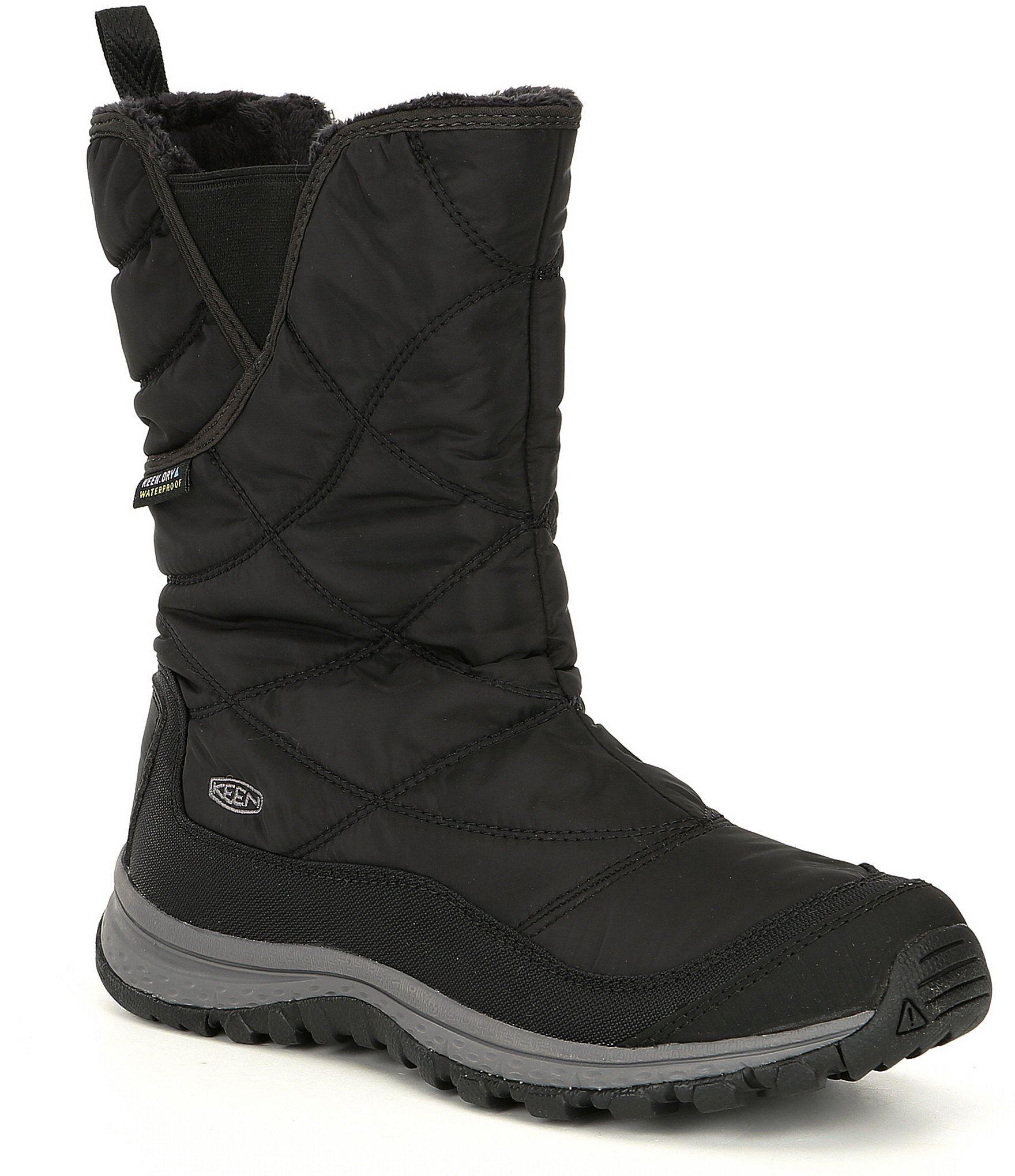 Keen Women's Terradora Winter Pull-On Waterproof Boots – Black Raven 9.5M
